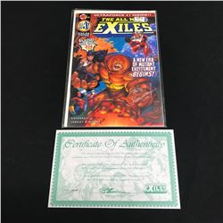 THE ALL NEW EXILES #1 (MALIBU COMICS) Signed by Terry Kavanaugh w/ COA