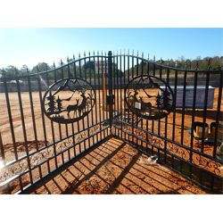 20' IRON GATE POWDER COATED DEER SCENE Miscellaneous