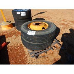Tire (2) 11R22.5 W/RIMS(A-2)