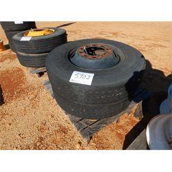 Tire (2) 11R22.5 W/RIMS (A-2)