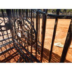 14' WROUGHT IRON GATE DEER SCENE  Miscellaneous