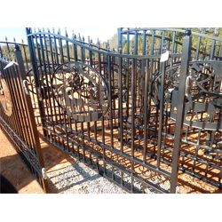 20' WROUGHT IRON GATE DEER SCENE  Miscellaneous