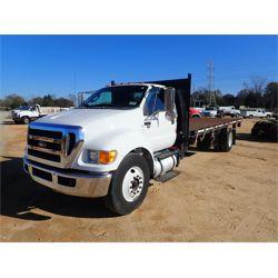 2013 FORD F750 Flatbed Dump Truck