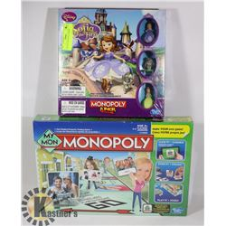 SEALED 2 MONOPOLY GAMES