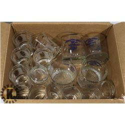 VINTAGE ESTATE GLASSES INCL 2 SETS OF 6 SHOT