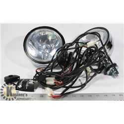 "6"" NEW DRIVING LIGHTS WITH  WIRING HARNESS"