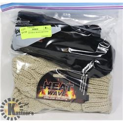 2PK LADIES HEAT WAVE MITTENS