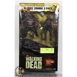 WALKING DEAD BLOODY ZOMBIE 3 PACK