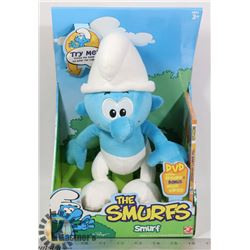 THE SMURFS PLUSH TALKING SMURF WITH DVD NEW