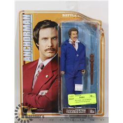 RON BURGANDY ANCHORMAN BATTLE READY IN PACKAGE