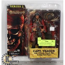 PIRATES OF THE CARIBBEAN CAPTAIN TEAGUE FIGURE NEW