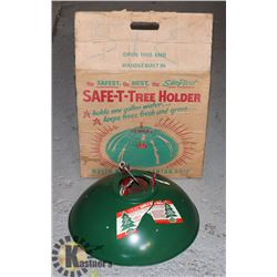 VINTAGE 1950S CHRISTMAS TREE HOLDER IN BOX