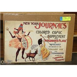 "NEW YORK JOURNAL TIN SIGN 16 X 11"""