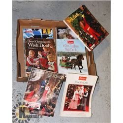 FLAT OF VINTAGE SEARS AND EATON'S CATALOGS