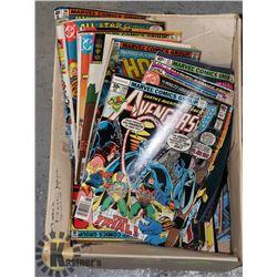 BOX FULL OF VINTAGE COMICS MARVEL ETC.