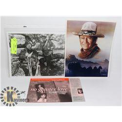 PAIR OF JOHN WAYNE MOVIE PICTURES