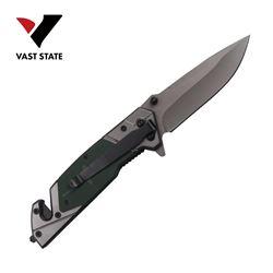 NEW FOLDING POCKET KNIFE W/ TITANIUM COATED BLADE