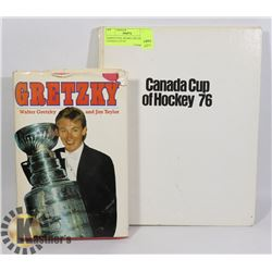 HARDCOVER  BOOKS GRETZKY AND CANADA CUP OF
