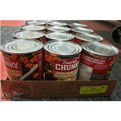 CASE WITH 12 540ML CANS OF CAMPBELLS CHUNKY SOUP