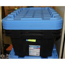 3 EXTRA LARGE HEAVY DUTY STORAGE TOTES