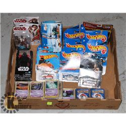FLAT OF COLLECTIBLES INCLUDING HOT WHEELS,