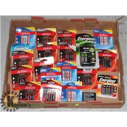 LARGE FLAT OF ASSORTED BATTERIES