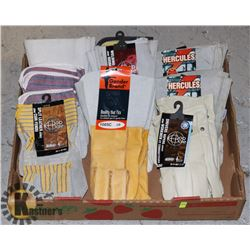 FLAT OF ASSORTED WORK GLOVES