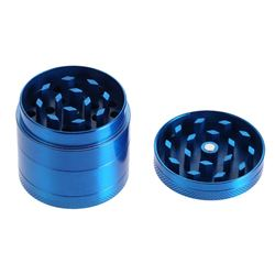 BLUE HERBS, TOBACCO AND SPICE GRINDER ZINC ALLOY