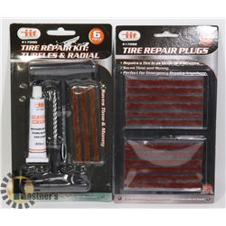 NEW TIRE REPAIR KIT WITH EXTRA PLUG SET