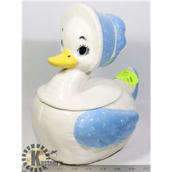 VINTAGE MOTHER GOOSE SHAPE COOKIE JAR