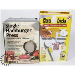 CLEVER CRACKER SOLD WITH SINGLE HAMBURGER