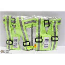 LOT OF 2 NEW ADJUSTABLE HI-VIS SAFETY BELT