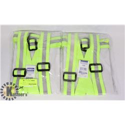 2 PACK HIGH VISIBILITY ADJUSTABLE SAFETY BELTS