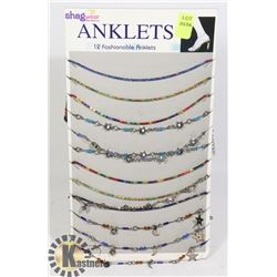 RETAIL DISPLAY OF SHAG WEAR ANKLETS