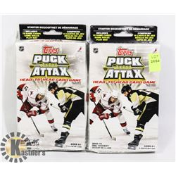 TWO PACKS OF TOPPS PUCK ATTAX HEAD TO HEAD