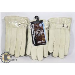 3 PAIRS OF WINTER LINED DRIVERS GLOVES