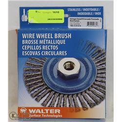 WALTER WIRE WHEEL BRUSH; MSRP $46