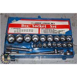 BOX SOCKET SET. 21 PIECES. 20MM  DRIVE BOX SOCKET