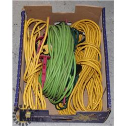 LARGE FLAT OF EXTENSION CORDS