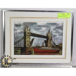 """UNTITLED """"LONDON BRIDGE"""" BERNARD BUFFET PRINT"""