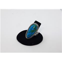 5)  TEAR DROP SHAPED NATURAL TURQUOISE