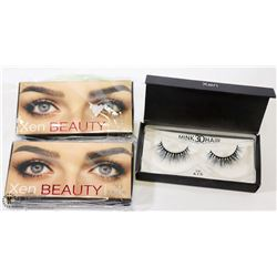 2PK OF XEN BEAUTY 3D MINK HAIR FAKE EYELASHES