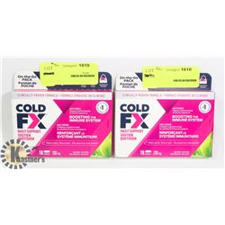 TWO PACKS OF COLD FX IMMUNE BOOSTING TABLETS