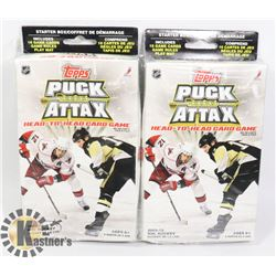 TWO PACKS OF TOPPS PUCK ATTAX HEAD TO HEAD CARD