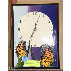 HAND PAINTED BUTTERFLY CLOCK