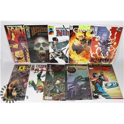 LOT OF 10 #1 & PREMIERE ISSUE COMIC BOOKS