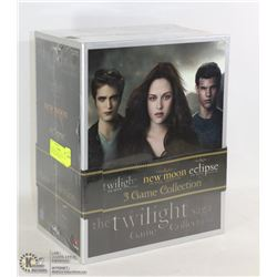 TWILIGHT TRILOGY SET OF GAMES, ONE FOR EACH MOVIE