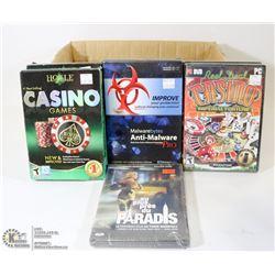 BOX W/ 6 NEW CASINO PC GAMES