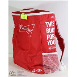 NEW BUDWEISER BACKPACK COOLER BAG -