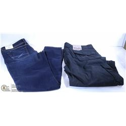 NEW BOOTLEGGER SKINNY JEANS AND PAIR OF BLACK 3/4